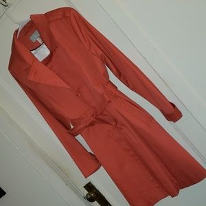 H&M Peach/Pink Color Belted Trench Coat